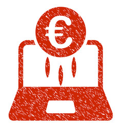 euro financial startup icon grunge watermark vector image
