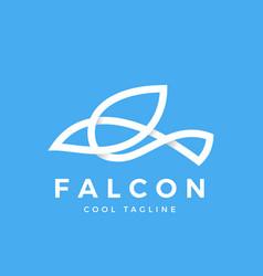 Falcon bird line symbol with soft shadows vector