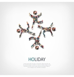 holiday people sign 3d vector image vector image