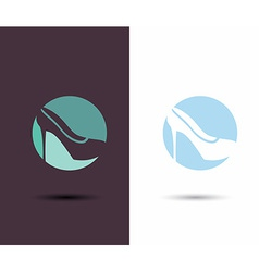 Logo Women sign Women shoe icon High heels shoe vector image