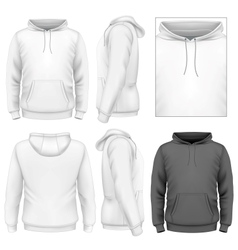 Mens hoodie design template vector image vector image