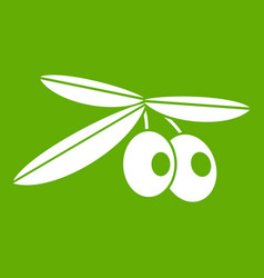 olives icon green vector image vector image