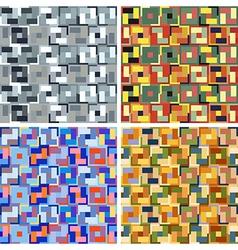 seamless abstract art pattern set vector image