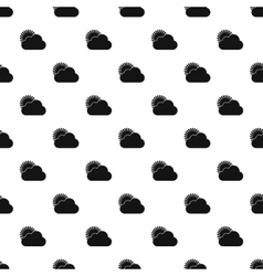 Sun behind clouds pattern simple style vector
