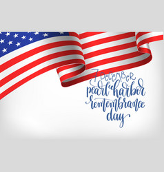 7 december pearl harbor remembrance day vector image vector image