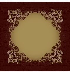 Dark red patterned background vector image vector image