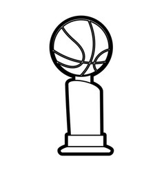 isolated ball and trophy design vector image vector image