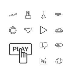 13 push icons vector