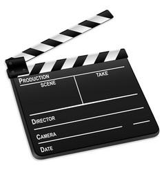 3d film slate vector image