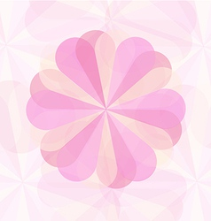Abstract floower pink geometrical background2 01 vector image
