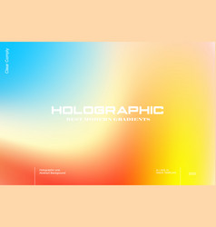 Abstract holographic gradient background vector