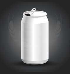 aluminum drink can template for beer or juice vector image