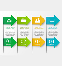 Arrow infographics template vector image