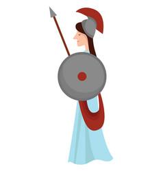 Athena goddess on white background vector