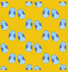 baby boy shoes seamless pattern vector image