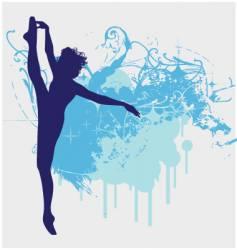 Ballet dancer leg up vector