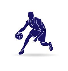 Basketball player outline vector