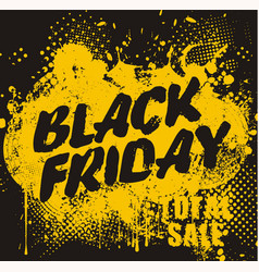 Black friday design with ihk blot big christmas vector