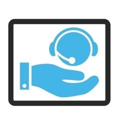 Call Center Service Framed Icon vector