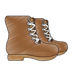 Camping boot footwear vector