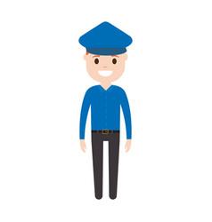 cartoon police man icon vector image