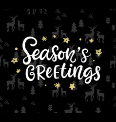 christmas ink hand lettering seasons greetings vector image