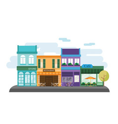 city street shop facade vector image
