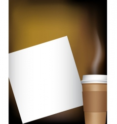 coffee cup with notepad vector image