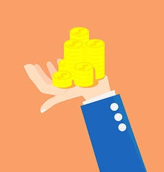 Concept idea of money on an investment vector image