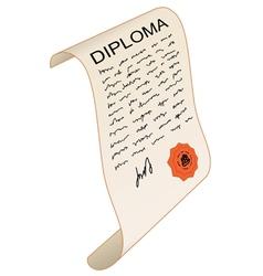 Diploma vector