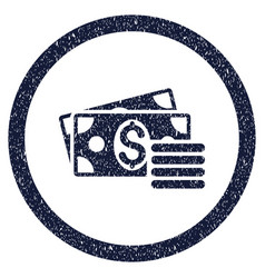 Dollar cash rounded grainy icon vector