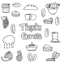 Doodle of object thanksgiving vector image
