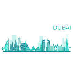 dubai city stock vector image
