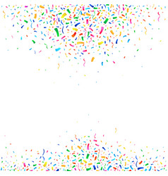 Falling colorful tiny confetti pieces vector