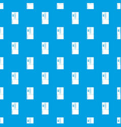 Fridge pattern seamless blue vector