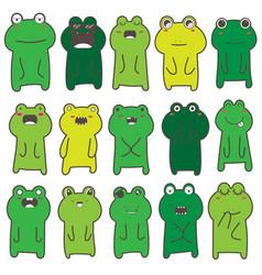 Frog character design vector