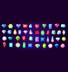 gems diamond and ruprecious stones vector image