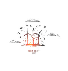 green energy concept hand drawn isolated vector image