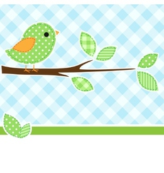 greeting card bird vector image