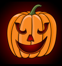 Happy halloween pumpkin hand drawn sketch vector