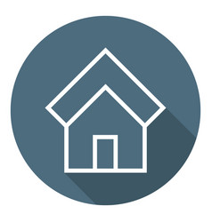 home icon estate house outline flat style vector image