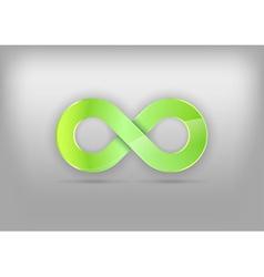 Infinity green vector