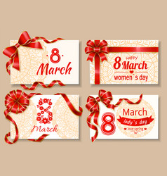 Ladies international holiday 8 march poster vector