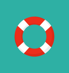Life preserver buoy ring help icon lifebuoy saver vector