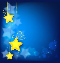 magic shiny stars abstract background vector image