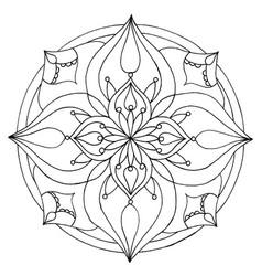 mandala 4 image vector image