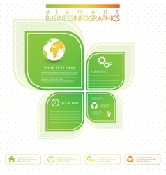 Modern green infographic design vector image