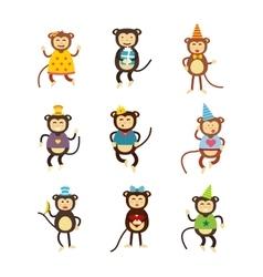 monkey icon vector image vector image