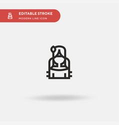native american simple icon vector image
