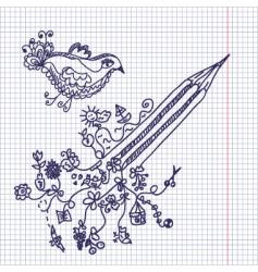 Pencil notepad vector